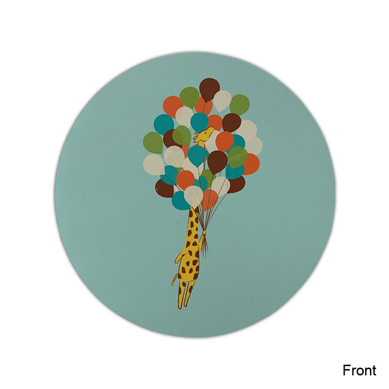 Funny Giraffe Mouse Pad Round Mat (5)