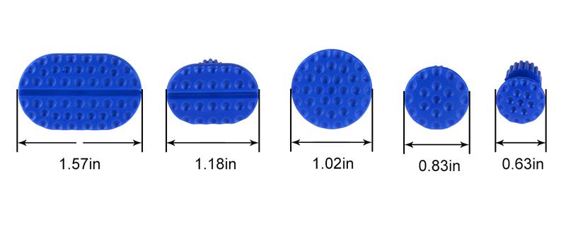 5 blue dent tabs