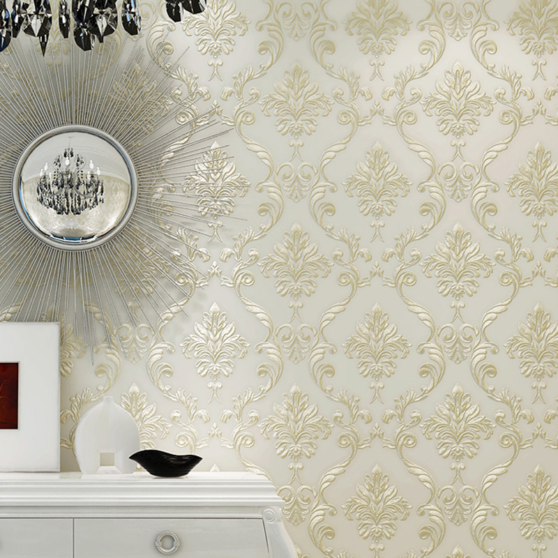 PAYSOTA European Simple Luxury Damask Wallpaper For Wall 3 D Classic Embossed TV Room Bedroom Wall Paper Home Decor<br>