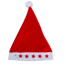 New 1pc Glowing Christmas Hat Luminous Led Red Flashing Star Santa Hat For Adult Child Christmas Decoration Accessories Supplies(China)