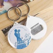 Free Shipping 100pcs Personalized Wedding Favors And Gifts Bottle Opener & Keychain Wedding Gifts For Guests Wedding Souvenirs(China)