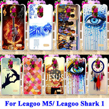 Silicon Phone Cases For Leagoo M5/ Leagoo Shark 1 Shark1 Shell Covers Dream Catcher Telephone Booth Letters Housing  Bags Hood