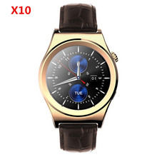 GoldenspikeSmart Watch X10 Sports SmartWatch Heart Rate Monitor Fitness Tracker Gunine leather Mobile Wristwatch for Android IOS(China)