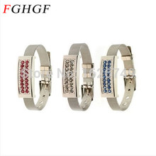 FGHGF crystal wristband Usb flah drive Jewelry diamond pen drive Crystal Bracelet Pendrive 4GB 8GB 16GB 32GB 2.0 Gift(China)