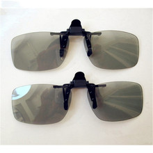 High quality  Myopia Clip 3D Glasses Make Eyes See 3D Effect Movie Passive TV with Glasses Box