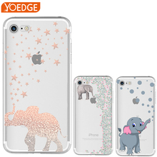 Most popular Elephant pattern Silicone Soft TPU Case for iPhone 7 4 4S 5 5S SE 5C 6 6S Plus X 8 Anti falling mobile phone cove(China)