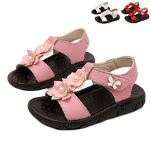 Summer Boys Girls Genuine Leather Sandals Children Real Skin Leather Shoes Sandals Kids Sandalias Hello Kitty Baby Footwear(China)