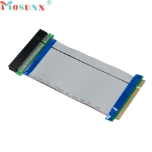 mosunx New Mecall 32 Bit Flexible PCI Riser Card Extender Flex Extension Ribbon Cable wholesale Mo04