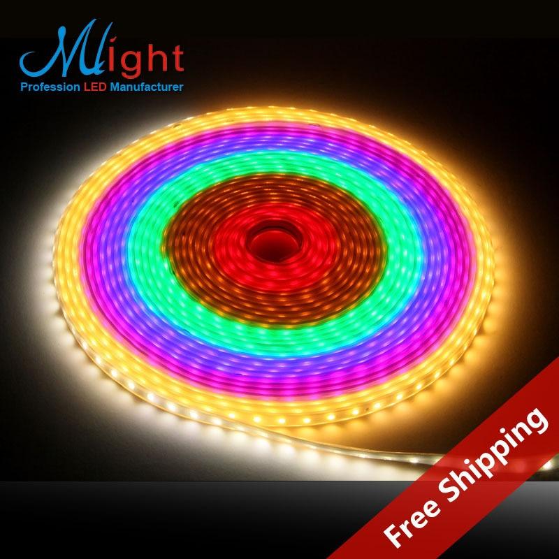 Free Shipping 5 Meters IP68 Waterproof Flexible LED strip Lights 220V Foolproof DIY Ribbon Lights for Outdoor Garden Lighting<br>