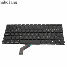 "Nabolang New Genuine Black US version Keyboard For MacBook Pro Retina A1425 13"" 2012 2013 US layout replacement keyboard(China)"