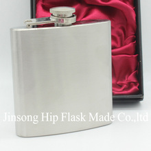 metal  hip flask  3.5  oz  stainless steel hip flask  ,laser etched logo is available