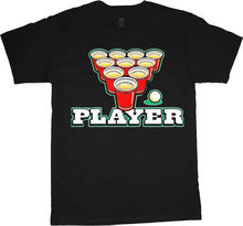 GILDAN Beer Pong shirt funny decal shirt player design t-shirt gift for men Men Summer Short Sleeves T Shirt