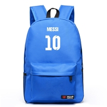 High Quality New Fashion 7 Color Messi Soccer Football Backpack Boy Girl School Bag For Teenagers Canvas Backpacks