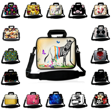 Fake Zebra Soft Messenger Laptop Computer Bag 12.2 14 15 11.6 13 10.2 12 17 9.7 10 Inch Portable Briefcase Notebook Cover Cases