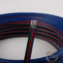1m 2m 3m 4m 5m 20m 50m 20AWG, 4pin RGB cable, PVC insulated wire, Electric cable, LED cable, Free to choose the number of meters(China)