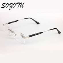 SOZOTU AL-MG Frame Magnetic Reading Glasses Men Women Diopter Presbyopic Elderly Eyeglasses +1.0+1.5+2.0+2.5+3.0+3.5 YQ142