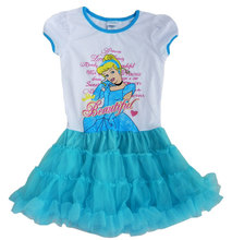 Children  Clothing  Cinderella Dora Girl Short sleeve Tutu Dress Summer dress