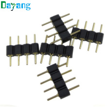 20pcs/lot, 4 pin needle 4pin RGB connector male type double 4pin for 3528 5050 RGB LED strip led accessories free shipping(China)