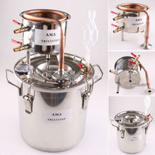 10L~100 Litres New DIY Home Distiller Alambic Moonshine Alcohol Still Stainless Copper Water Wine Essential Oil Brewing Kit(China)