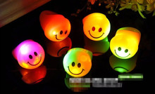 100pcs/lot Big flash smile ring Children and Adult led finger lights ring Light-Up Toys for Party and Bar Event Party Supplies