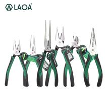1pcs LAOA CR-MO Combination Pliers Long Nose Plier Fishing Pliers Wire Cutter Stripping American Type Tools For Electrician(China)