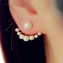 2017  Korean Fashion Imitation Pearl Earrings Small Daisy Flowers Hanging After Senior Female Jewelry Wholesale