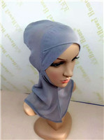 DD28 wholesale Summer breathable  Soft and comfortable Crossover   hijab  Bali Yarn   muslim underscarf