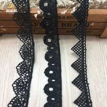 15yards High Quality Water Soluble Lace Fabric Decoration Garment Accessories Necklace Hair Accessories Embroidered Lace Trim(China)