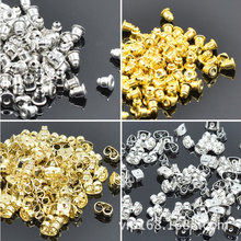 100 pcs/lot Alloy Earring Backs Bullet Stoppers Earnuts Earring Plugs DIY Gold Silver Plated Findings Jewelry Accessories #JA004(China)