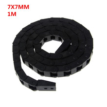 7 x 7mm 7*7mm L1000mm Cable Drag Chain Wire Carrier with End Connectors for CNC Router Machine Tools(China)