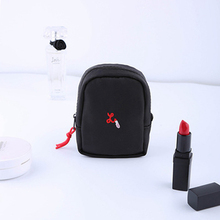 IVYSHION Simple Solid Color Portable Lipstick Cosmetic Storage Bag Lipstick Bag Mini Portable Makeup Small Change Travel 3 Color(China)