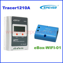 Tracer1210A+eBOX-WIFI-01 eBOX-BLE-01 10A 12v 24v 100v MPPT solar charge controller with WIFI for mobile phone APP remote control(China)