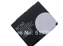 Free shipping high quality mobile phone battery BC60 for Motorola L7 A1600 L72 E8 L71 EM30 C261 C257 with good quality