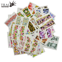 48pcs/Set Nail Sticker Mixed Design Colorful Flower Full Cover  Manicure Pedicure Beauty Care Decals for Beauty Tips TRA049-096