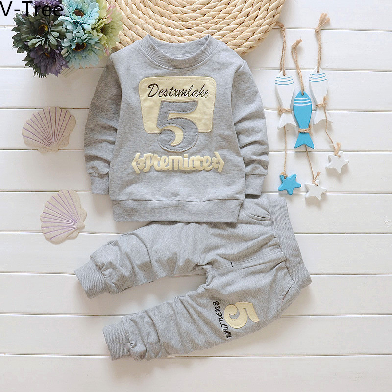 Spring Baby Boys Girls Sweatshirt Sets ChildrenTwo-piece 2pcs Sports Suit Hoodie+Pant Infant Kids Cotton Soft Solid Clothes<br><br>Aliexpress