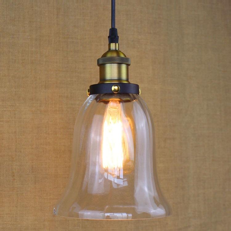 Glass Pendant Lamp Modern Vintage Edison Bulbs Bar Restaurant Bedrooms Large Shopping mall Muuto E27 Art Diningroom<br>