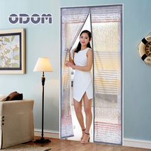 ODOM Hight Quality Summer Anti-mosquito Mesh Door Magnetic Mosquito Net Curtains Tulle Soft Screen Door magnetic stripe of gray