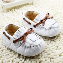 Newborn Baby Moccasins Kids Soft Soled Infant Tassels Shoes PU leather Prewalkers Boots(China)