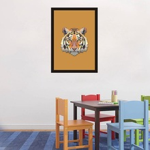 Canvas Art Print Wall Painting Poster Fight Color Geometric Animal Tiger Head,Wall Pictures for Home Decor,frame not includ