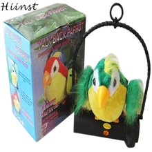 HIINST funny hot Creative Waving Wings Electricity Talking Talk Parrot Imitates & Repeats What You Say funny Toy gift p30 ag30