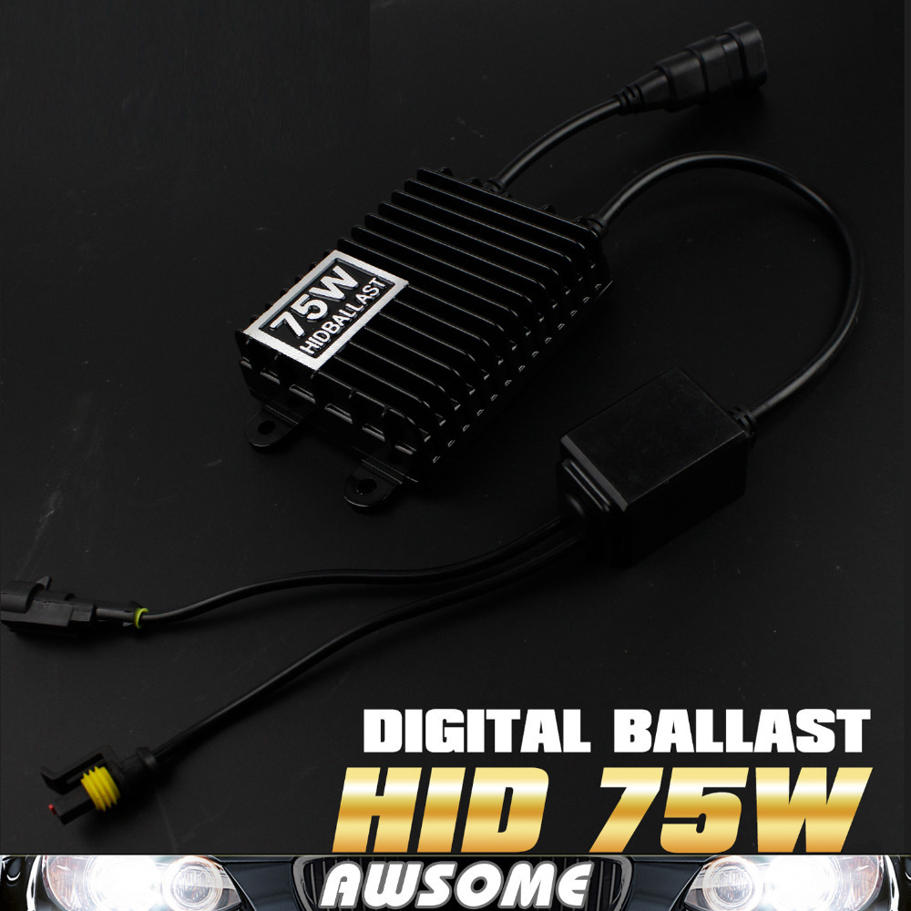 1PC 12V 75W HID Slim Digital Xenon Ballast Hid Ballast Car Replacement Ballast For H1 H3 H7 H8 H9 880 881 HB3 9006 HB4<br>