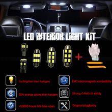 15pcs Premium Canbus White Error Free LED Interior Map Dome Signal Light Kit for Ford for Mustang(2005-2009)+Installation tool