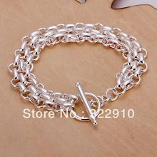 Factory price!!!Free Shipping 925 Sterling Silver Bracelet Can Custom Hand Made Bracelet Wholesale Fashion Jewelry H071(China)