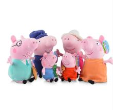 Genuine High quality Plush pig Toy Pink bule George Pig with Mud hot sale cartoon Animal doll Children's Gift 19CM