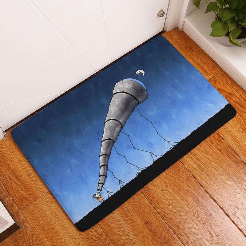 Cartoon flannel carpet angel and devil printing mat for living room cartoon flannel carpet angel and devil printing mat for living room 40x60cm 50x80cm door mat rectangle tapete us872 fandeluxe Images