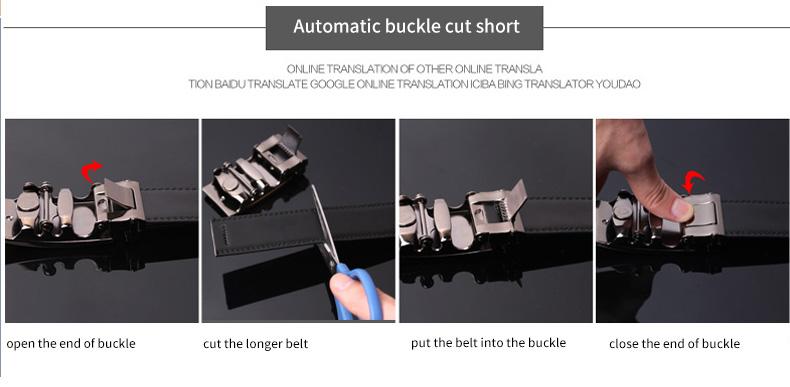 حزام COWATHER جلد طبيعي للرجال ذو جودة عالية 5