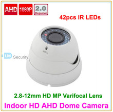 Lihmsek High Performance 2.0 Megapixel 1920*1080 HD AHD Camera with 2.8-12mm Varifocal Lens, Optional White and Black Color(China)