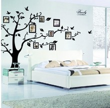 Family photo frame Flying Birds tree wall stickers arts home decorations living room Bedroom decals posters pvc wall decal(China)