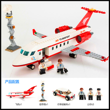 Factory Price 334Pcs Building Blocks Toy Airplane Air Bus DIY Assemble Figure Educational Brick Brinquedos For Kids+With Gift