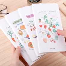 Creative Cute Vegetables Summer Fruits Foods Blank Pages Portable Thin Notebook Notepad Diary Book Students Gift School Supply(China)